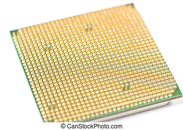 Processor - PC processor on white background. Studio shot