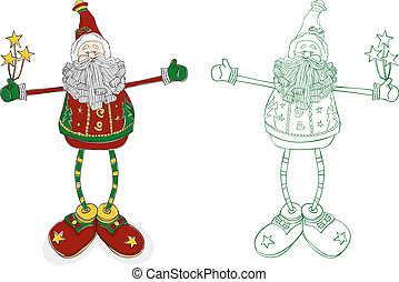 Santa Long Legs - A whimsical interpretation of Santa....