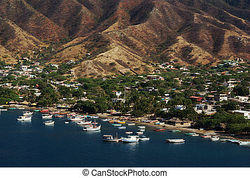 The beach of Taganga close to Santa Marta on the Caribbean...