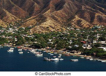 The beach of Taganga close to Santa Marta on the Caribbean...