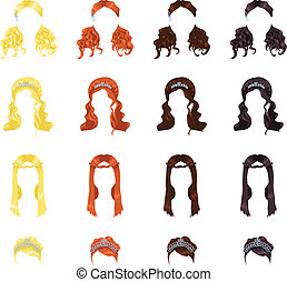Female hair - assortment of female hair