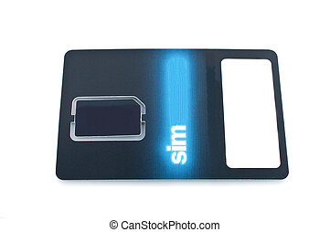 Sim card close up view isolated