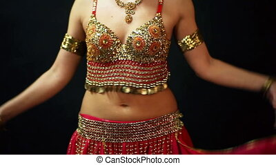 Belly dancer - Belly dance, close up