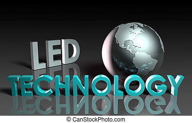 LED Technology - LED Modern Technology Abstract as a Concept...