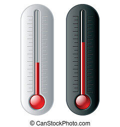 Thermometers - Vector illustration. Easily change the level...