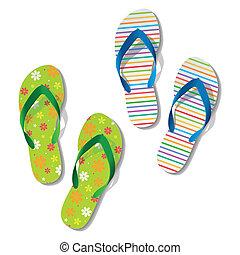 Flip flops. Sandals.