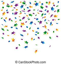 Rain of confetti - Detailed vector illustration of confetti