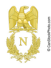 French Napoleonic Standard - Golden eagle on French...