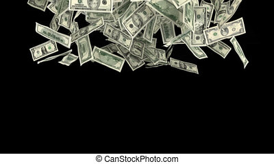 dollar fall - Transition with dollar banknotes. Includes...