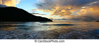 Brewers Bay of Tortola - BVI - A beautiful sunset over...