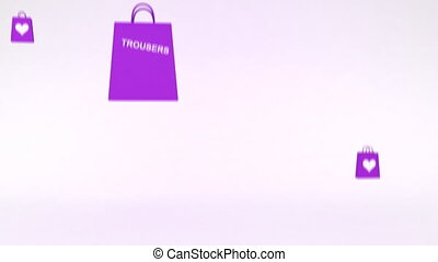 Shopping Bags - Shopping bags containing womenu2019s clothes...