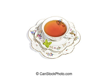 Cup of Tea - Delicate porcelian cup of tea for a refreshing,...