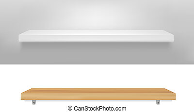 Empty Shelf - 2 Empty Shelf, Vector Illustration