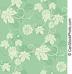 Garden flowers seamless background Vector illustration