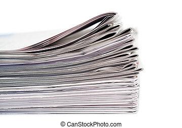 periódicos, blanco, Plano de fondo