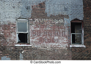 Abandoned Brick Urban Building - An old abandoned brick...