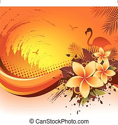 Exotic Tropical Background - An abstract vector illustration...
