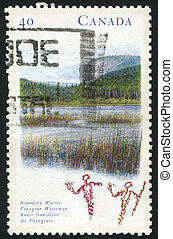 postage stamp - CANADA - CIRCA 1991: stamp printed by...