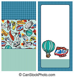cartoon airplane card