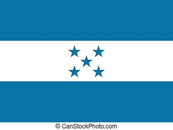 Honduras Flag - Illustrated flag of Honduras