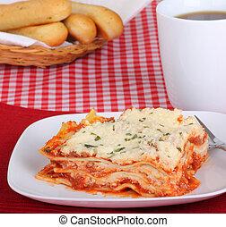 lasagne, repas