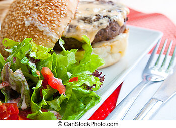 American cheese burger - Cheese burger - American cheese...