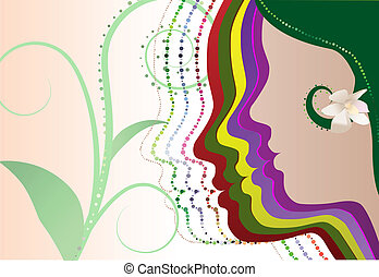 natural beauty - vector natural beauty concept illustration...