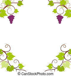 Grape vines frame.