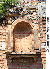 Alcove for statue in Ostia Antica, the old Harbour of Rome...