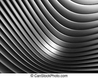 Aluminum abstract silver curve stripe pattern background