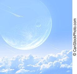 Sky in alien planet