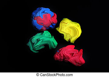 The plastiline  - The chunks of colored plastiline