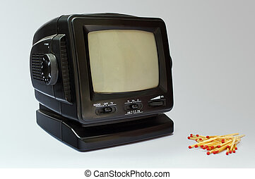 Old portable TV