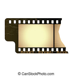Grunge film frame - Detailed vector illustration of a grunge...