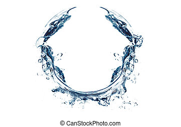 water splash in round shape