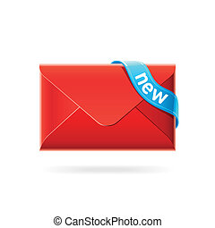 New e-mail icon - Vector illustration of a new e-mail icon