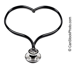 Doctors stethoscope in the form of a heart