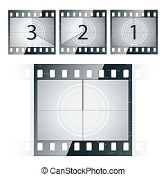 Film strip countdown - Vector illustration of a film...