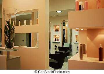 Hair salon - Interior of a modern fashionable beauty salon