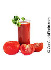tomato juice isolated on white
