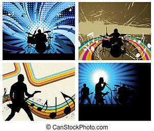rock group - Rock group set Vector illustration for design...
