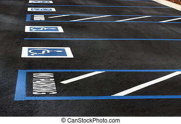 Handicapped Parking - Handicapped parking spaces