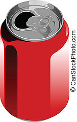 soft drinks can - Vector illustration of an aluminum soft...