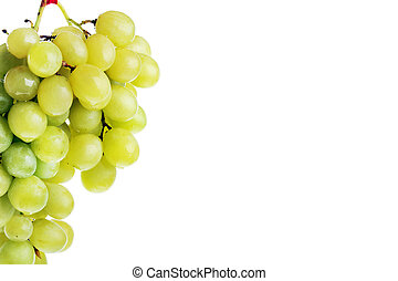 green grapes - fresh and tasty green grapes isolated