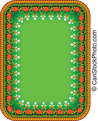 Frame in traditional Russian style in a vector