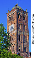 Clocktower - Big square clocktower with many big windows