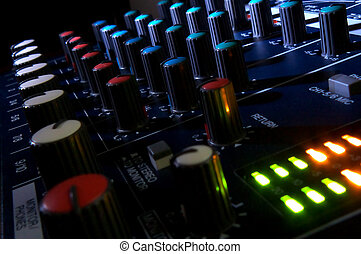 Mixing console in dark Element of design