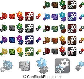 gears logo elements