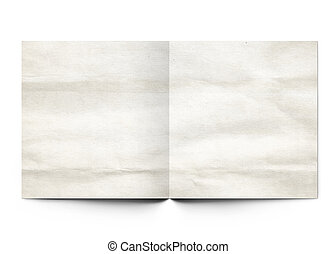 Sheets of paper on the isolated white background