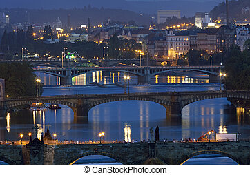 Bridges in Prague, Czech Republic